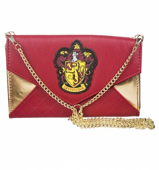Red And Gold Harry Potter Clutch Bag With Chain