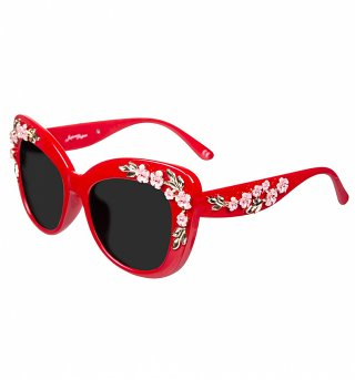 Red Floral Retro Sunglasses from Jeepers Peepers