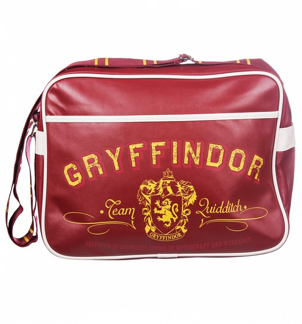 Red Harry Potter Gryffindor Messenger Bag