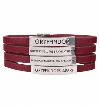 Red Harry Potter Gryffindor Quotes Bracelet
