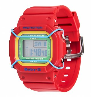 Red Retro Baby-G Resin Watch BDG-501-4BER