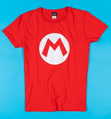 Red Super Mario Brothers Mario T-Shirt