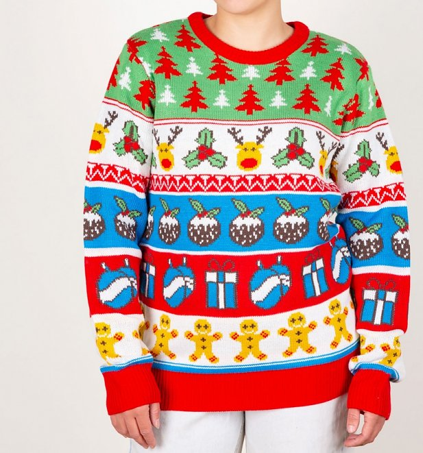 32324765 Reindeer and Trees Knitted Christmas Jumper from Cheesy Christmas Jumpers