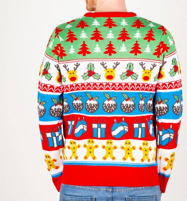 Reindeer and Trees Knitted Christmas Jumper from Cheesy Christmas Jumpers