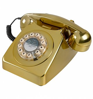 Retro 746 Brass Brushed Telephone from Wild & Wolf