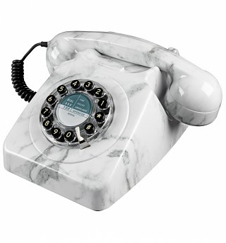 Retro 746 Marble Telephone from Wild & Wolf