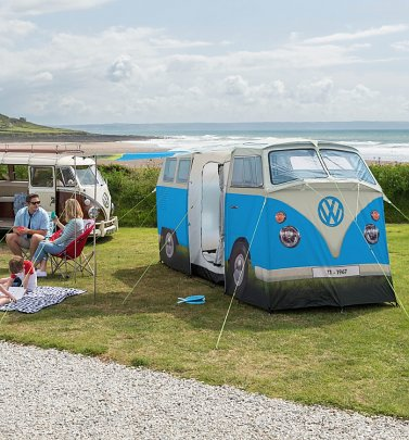 Retro Blue VW Campervan Exact Scale Replica Tent