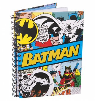 Retro DC Comics Batman Spiral Bound A5 Notebook