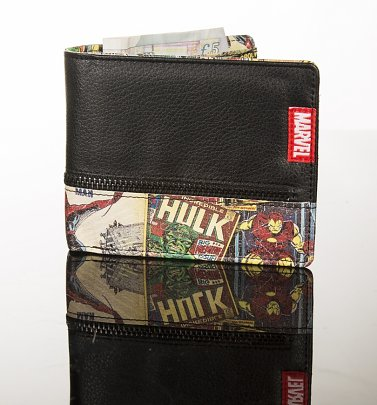Retro Marvel Comics Inside Print Wallet