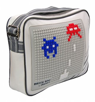 Retro Messenger Bag With Bricks