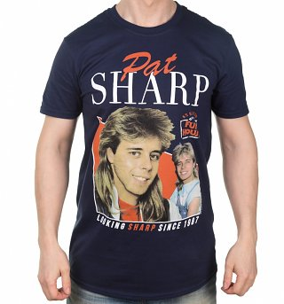 Men's Retro Pat Sharp Navy T-Shirt