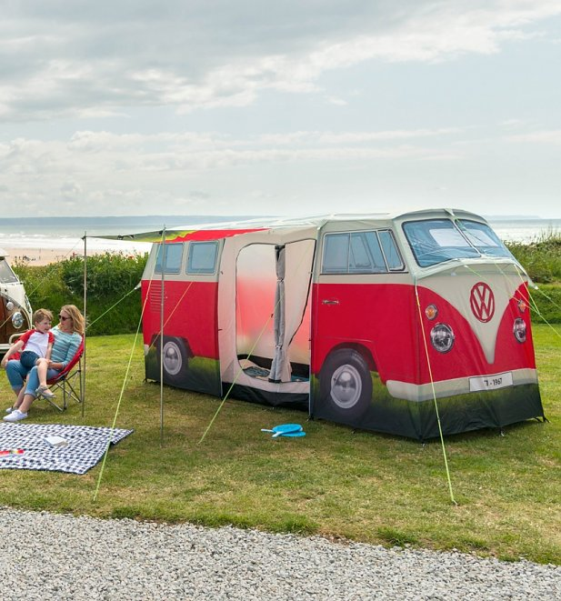 Retro Red VW Camper Van Exact Scale Replica Tent