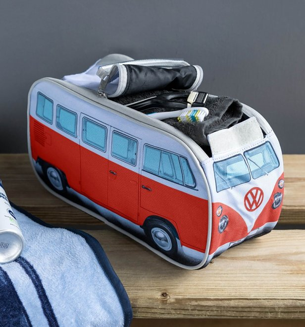 Retro Red VW Campervan Wash Bag