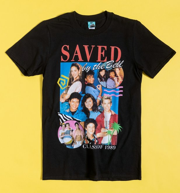 Retro Saved By The Bell Black T-Shirt
