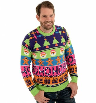 Retro Sweet Mashup Knitted Jumper from Cheesy Christmas Jumpers
