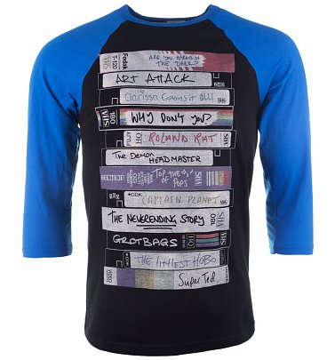 Retro Video Tapes Raglan Baseball T-Shirt