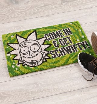 Rick and Morty Get Schwifty Door Mat