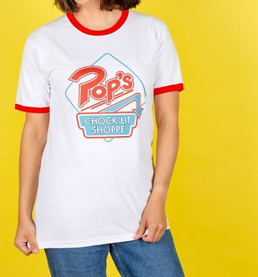 Riverdale Pop's Retro Diner Logo Ringer T-Shirt