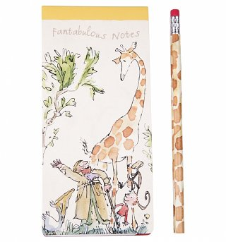 Roald Dahl The Giraffe And The Pelly And Me Slim List Pad With Pencil
