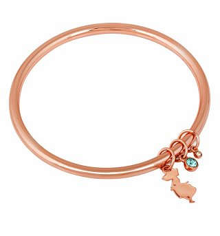 Rose Gold Plated Alice In Wonderland Charm Bangle from Disney Couture