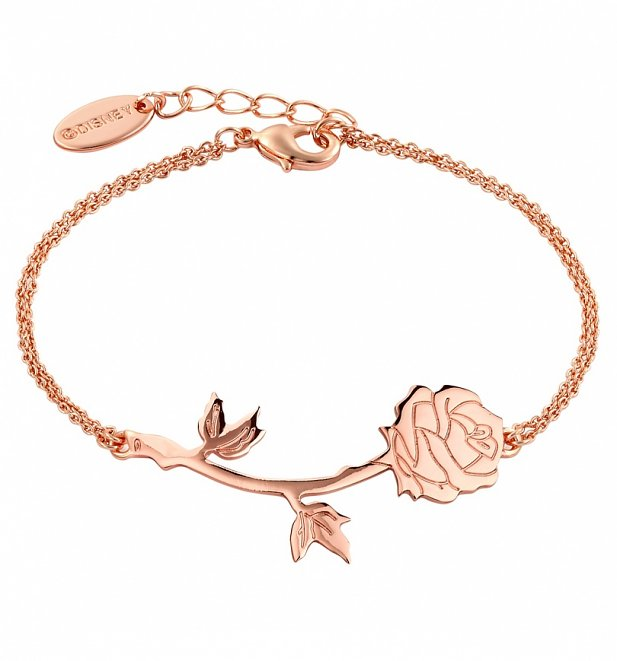 Rose Gold Plated Beauty & The Beast Rose Bracelet from Disney Couture
