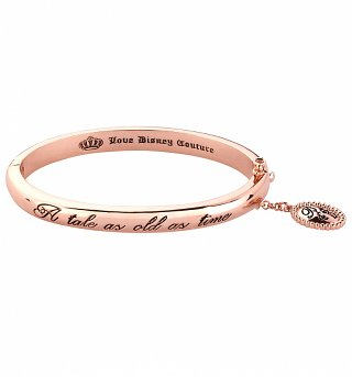 Rose Gold Plated Beauty & The Beast A Tale As Old As Time Bangle from Disney Couture