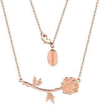 Rose Gold Plated Beauty & The Beast Rose Necklace from Disney Couture