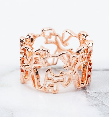 Rose Gold Plated Dumbo Outline Ring