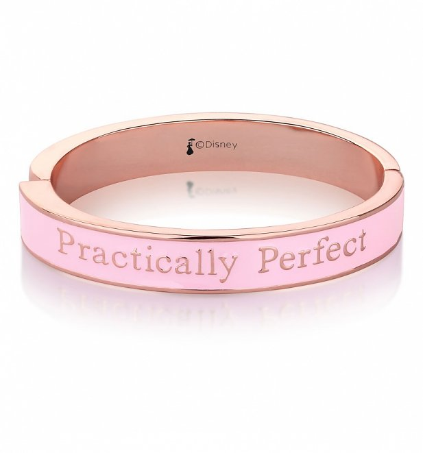 Rose Gold Plated Mary Poppins Practically Perfect In Every Way Bangle from Disney by Couture Kingdom