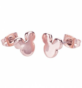 Rose Gold Plated Mickey Mouse Silhouette Stud Earrings from Disney Couture