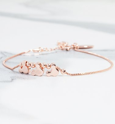 Rose Gold Plated Minnie Mouse Heads Charm Bracelet from Disney by Couture Kingdom
