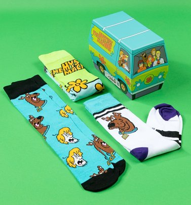 Scooby Doo Mystery Machine Set Of Three Socks