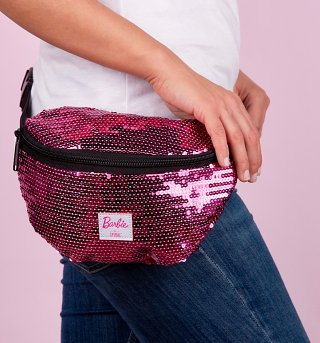 Sequin Pink Barbie Bum Bag from Spiral