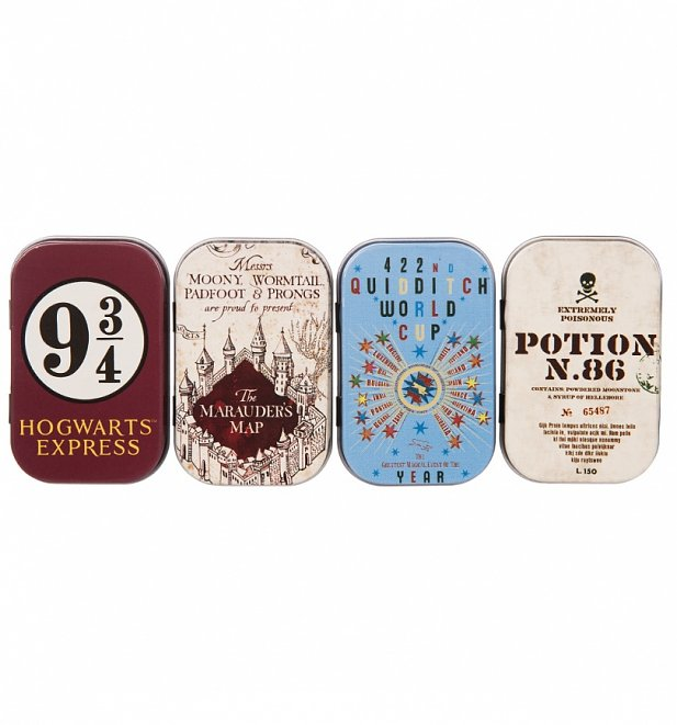 Set Of Four Harry Potter Mini Tins