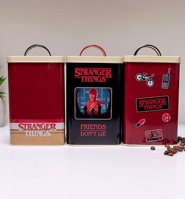 Set Of Three Stranger Things Storage Tins