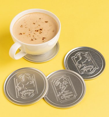 Set of Four Lord of the Rings Metal Embossed Coasters