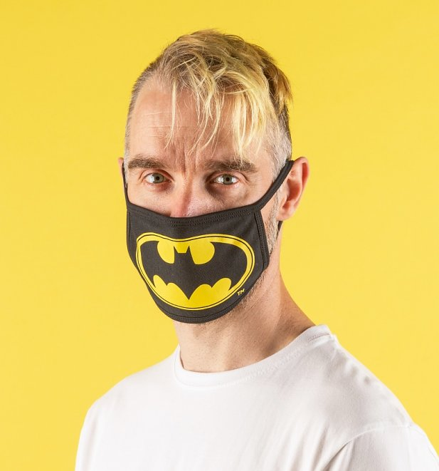 Set of Two Batman Logo Face Masks