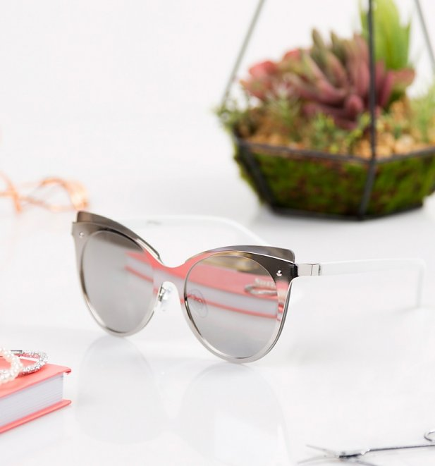 Silver Lens Cats Eye Sunglasses from Jeepers Peepers