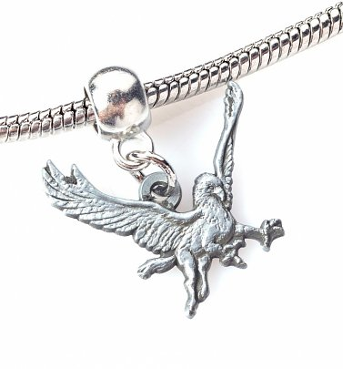 Silver Plated Harry Potter Buckbeak Slider Charm