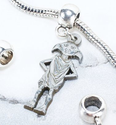Silver Plated Harry Potter Dobby The House Elf Slider Charm