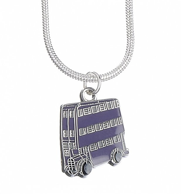 Silver Plated Harry Potter Knight Bus Necklace