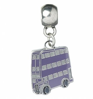 Silver Plated Harry Potter Knight Bus Slider Charm