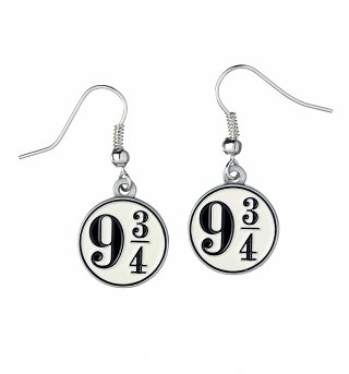Silver Plated Harry Potter Platform 9 And 3/4 Drop Earrings