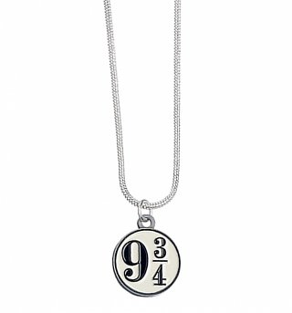 Silver Plated Harry Potter Platform 9 And 3/4 Necklace