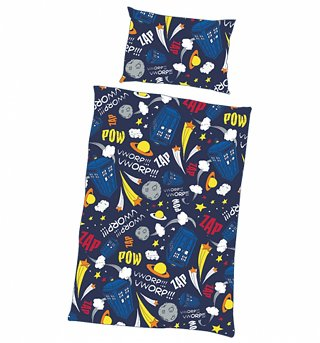 Single Doctor Who Comets And Stars Duvet Cover Set from BBC Worldwide