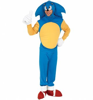 Men's Sonic The Hedgehog Fancy Dress Costume