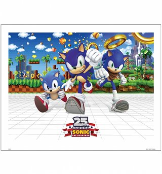 "Sonic the Hedgehog 25th Anniversary 14"" x 11""Art Print"