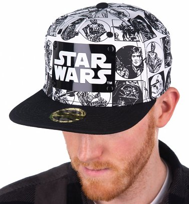 Star Wars Comic Snapback Cap With Metal Logo