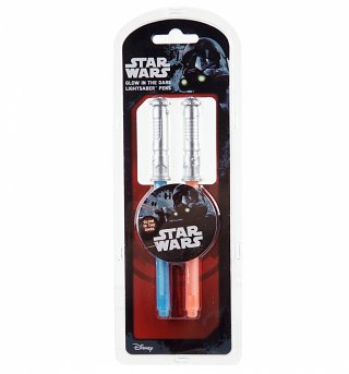 Star Wars Lightsaber Glow In The Dark Pen Set