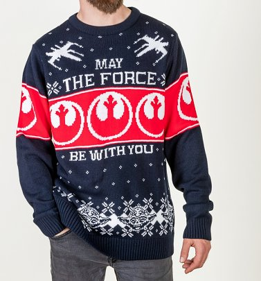 Star Wars May The Force Be With You Knitted Christmas Jumper